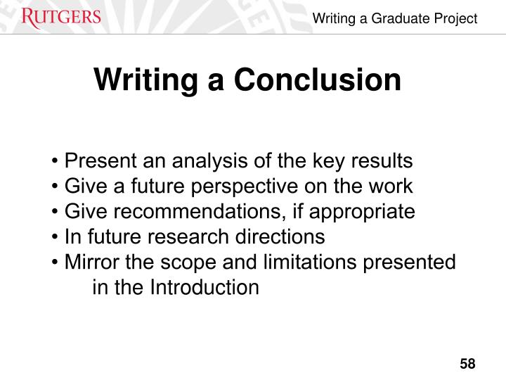 Writing a Conclusion
