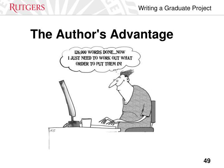 The Author's Advantage
