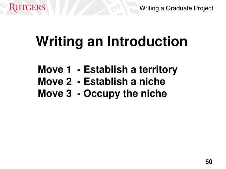 Writing an Introduction