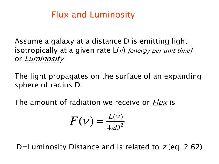 Flux and Luminosity