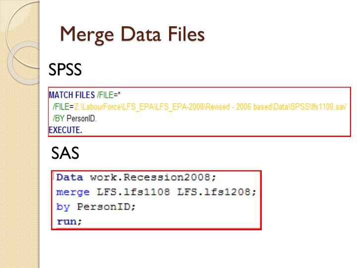 Merge Data Files