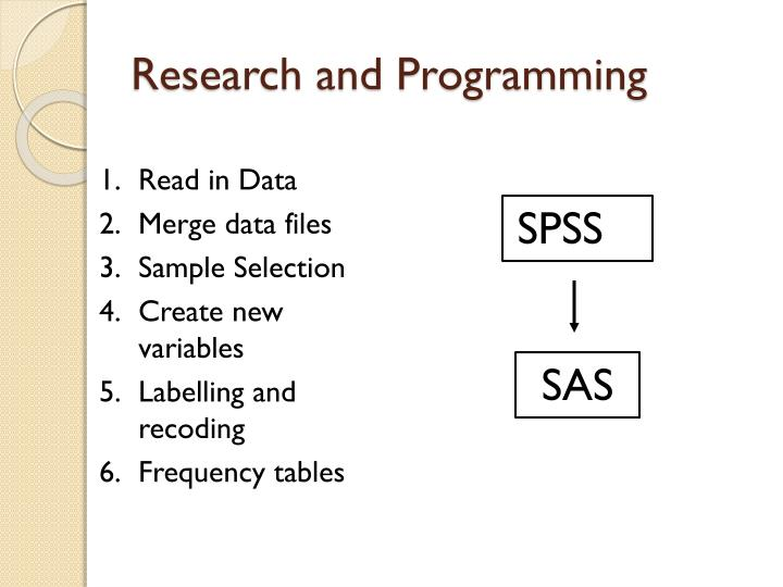Research and Programming