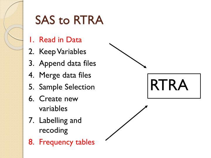 SAS to RTRA