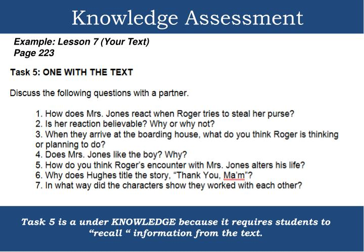 Knowledge Assessment