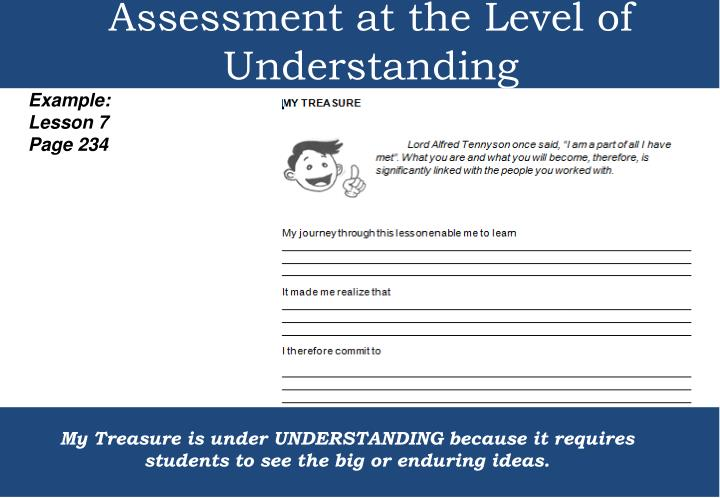 Assessment at the Level of Understanding