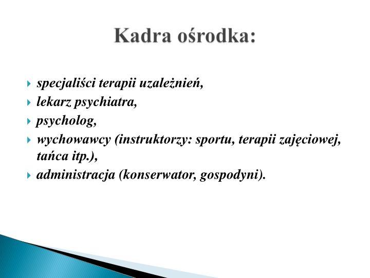 specjaliści terapii uzależnień,
