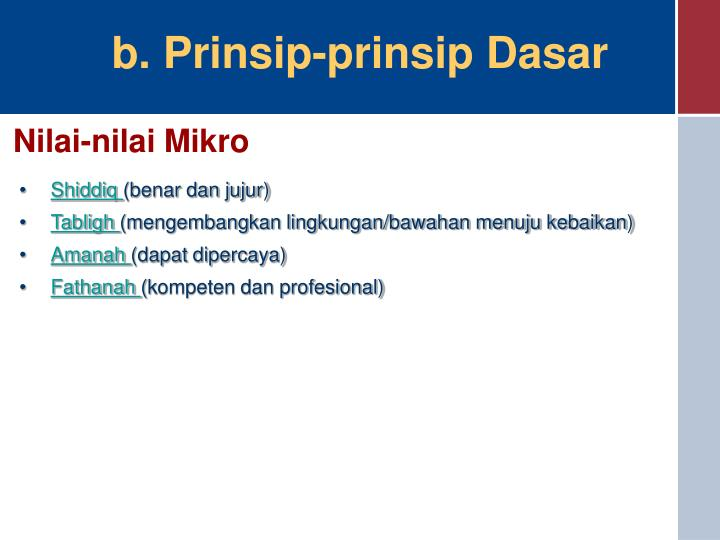 Nilai-nilai Mikro