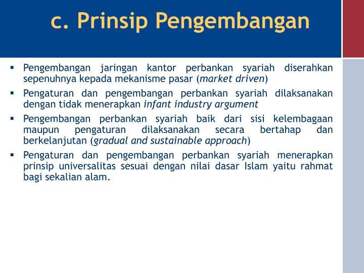 c. Prinsip Pengembangan