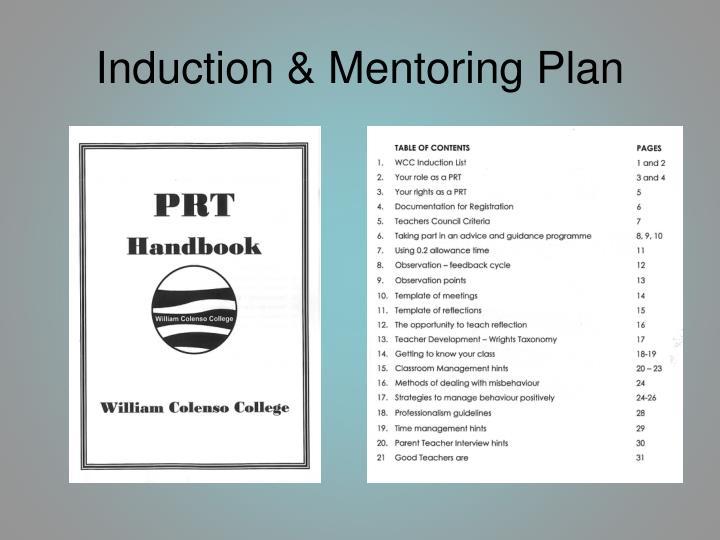 Induction & Mentoring Plan