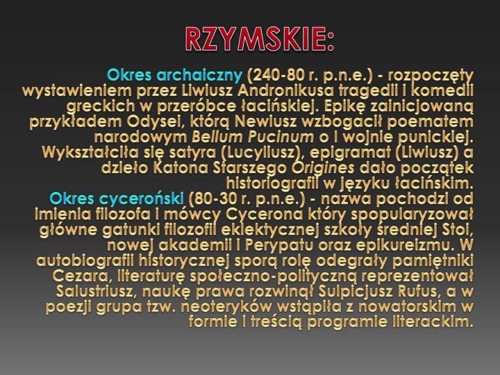 RZYMSKIE: