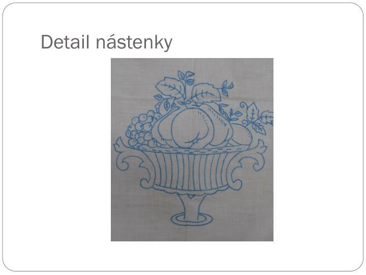 Detail nástenky