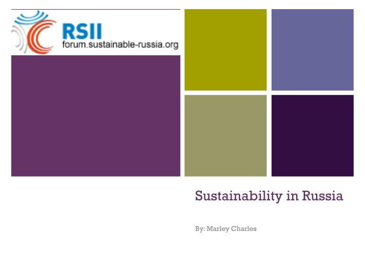 Sustainability in russia