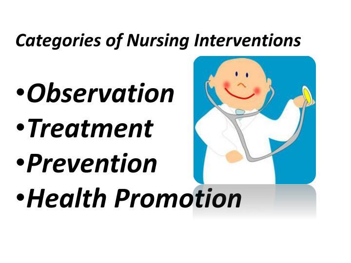 Categories of Nursing