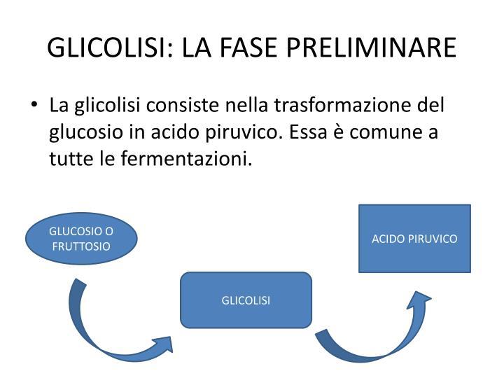 GLICOLISI: LA FASE PRELIMINARE