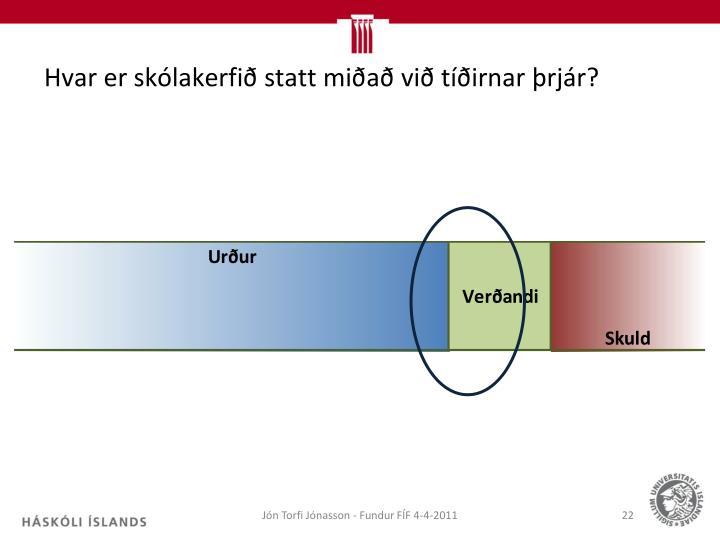Hvar er skólakerfið statt miðað við tíðirnar þrjár?