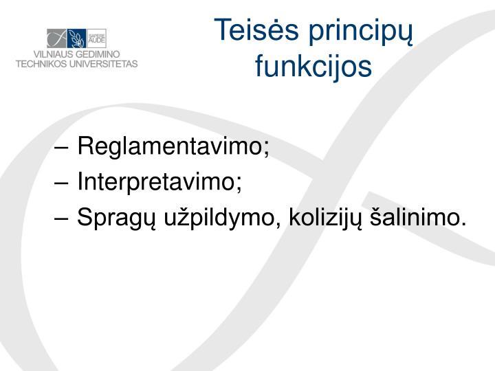 Teisės principų funkcijos