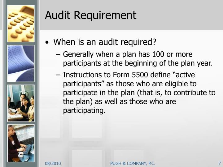Audit Requirement