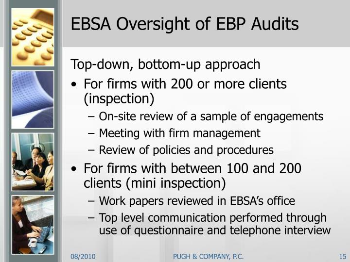 EBSA Oversight of EBP Audits
