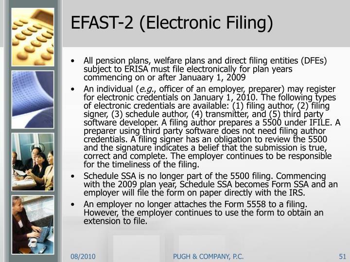 EFAST-2 (Electronic Filing)