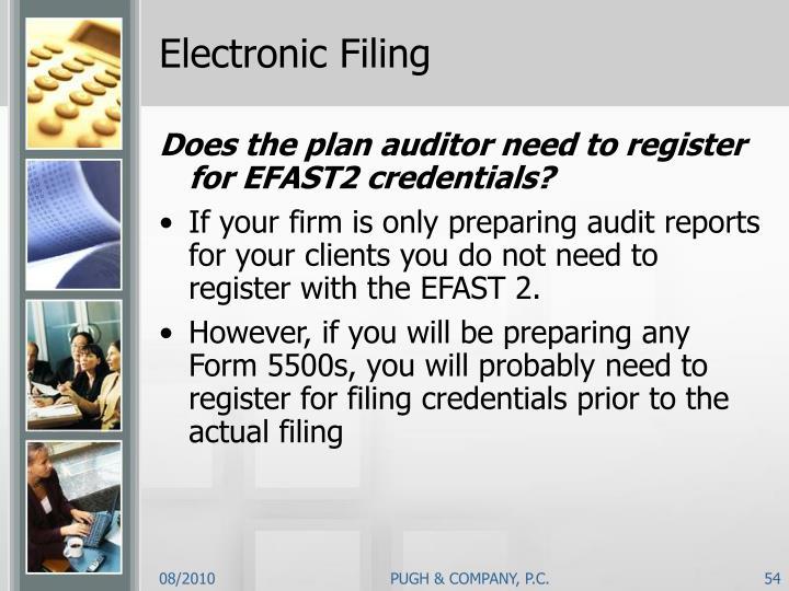 Electronic Filing