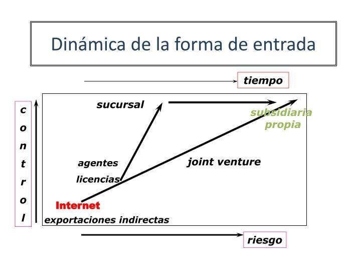 Dinámica de la forma de entrada