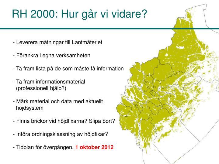 RH 2000: Hur går vi vidare?