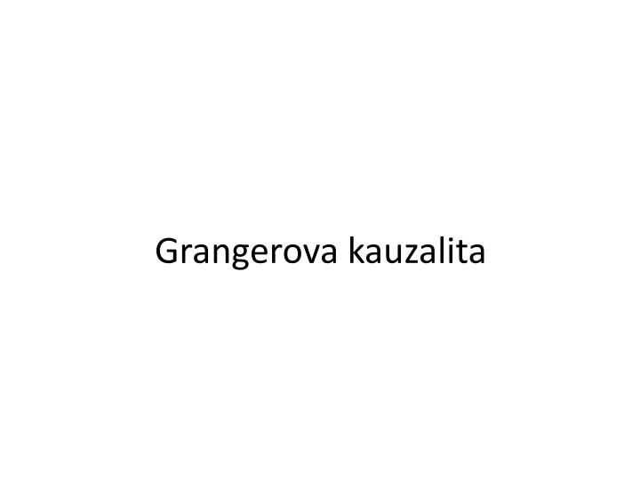 Grangerova kauzalita