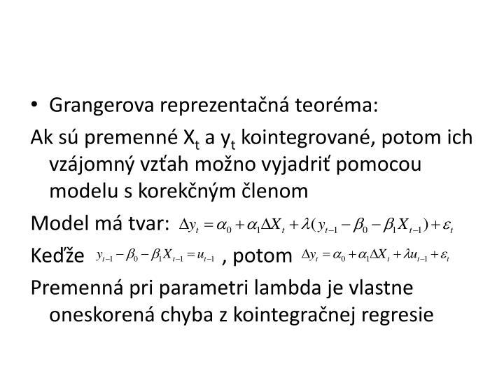 Grangerova reprezentačná teoréma: