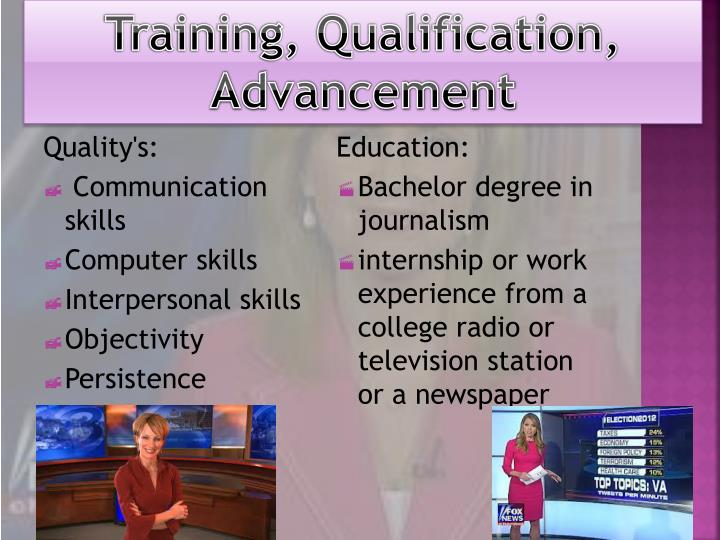 Training, Qualification, Advancement