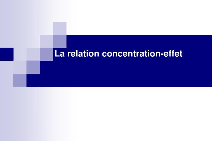 La relation concentration-effet