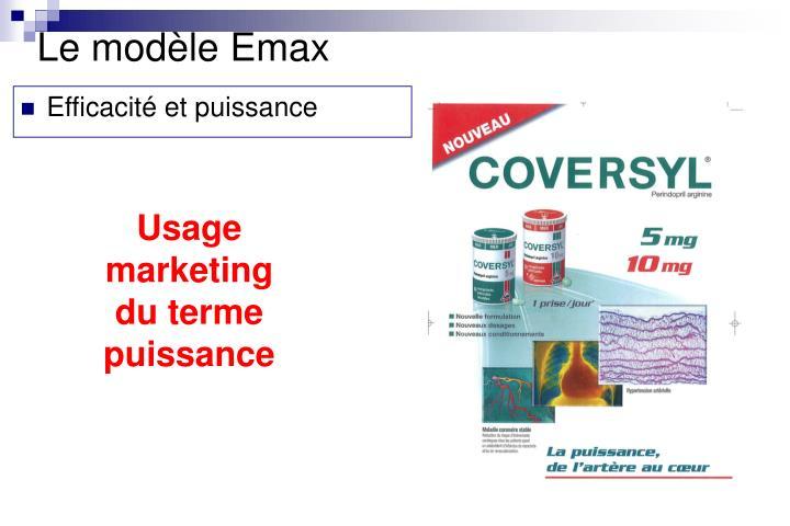 Le modèle Emax