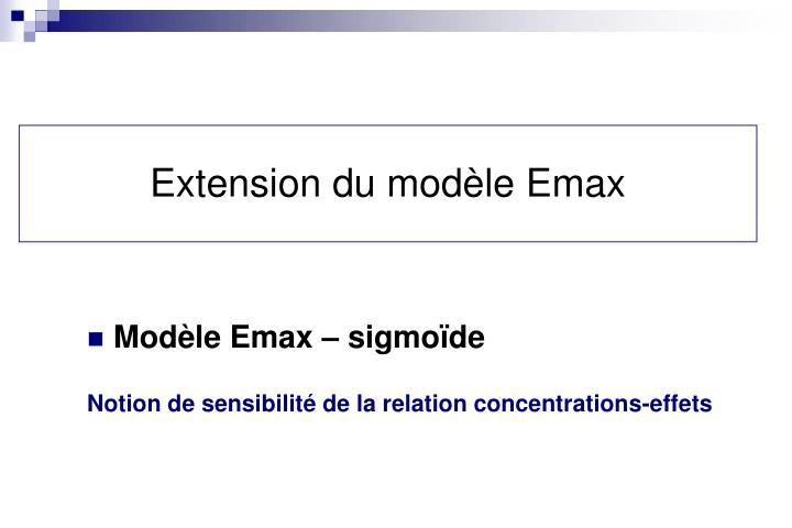 Extension du modèle Emax