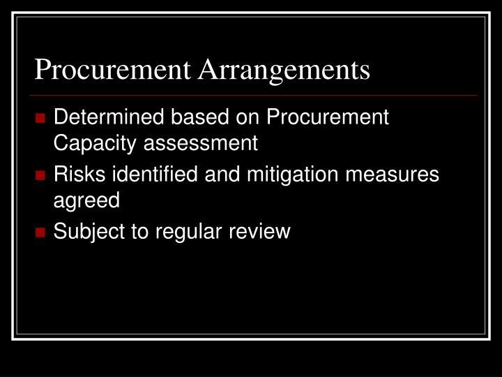 Procurement Arrangements
