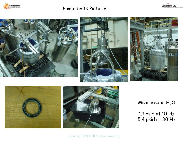Pump Tests Pictures
