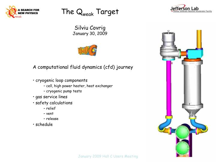 The q weak target silviu covrig january 30 2009