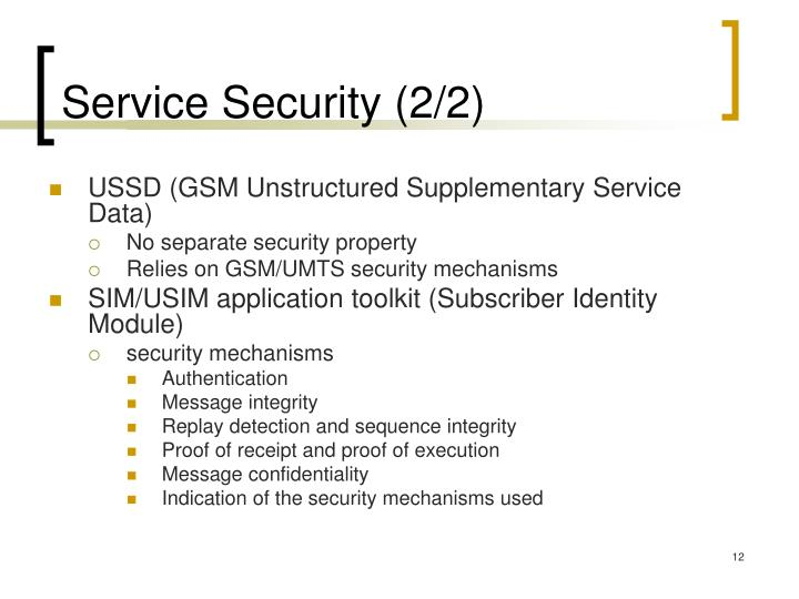 Service Security (2/2)