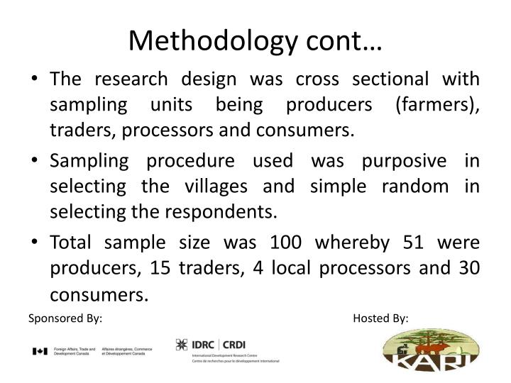 Methodology cont…