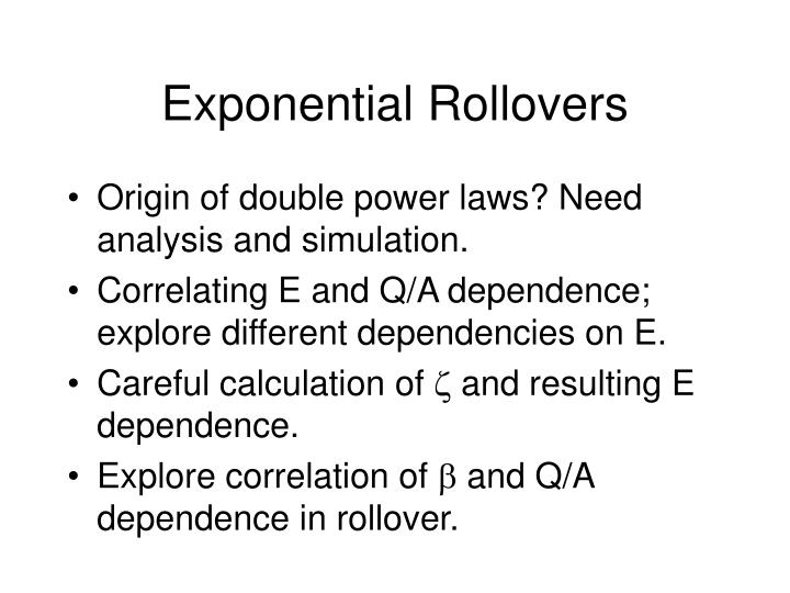 Exponential Rollovers