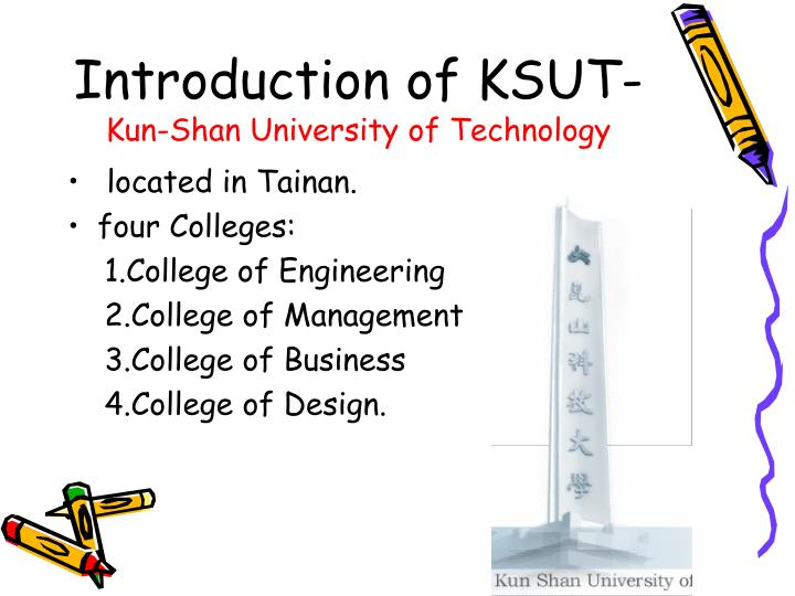 Introduction of KSUT-