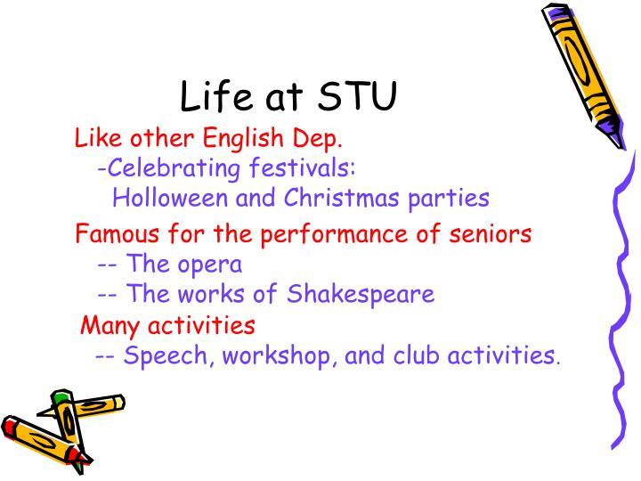 Life at STU