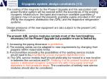 cryogenic system design constraints 1 2