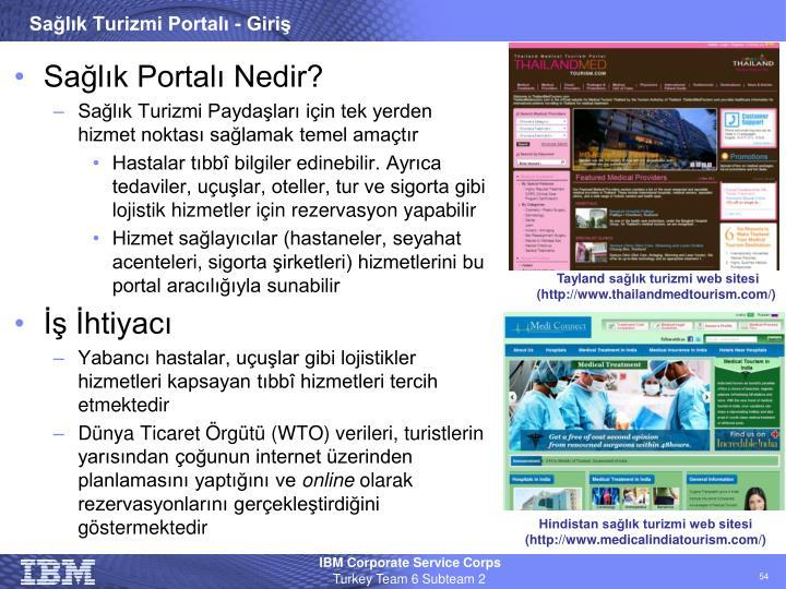 Sağlık Turizmi Portalı