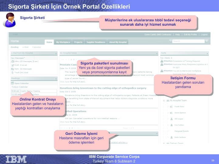 Sigorta Şirketi İçin Örnek Portal Özellikleri