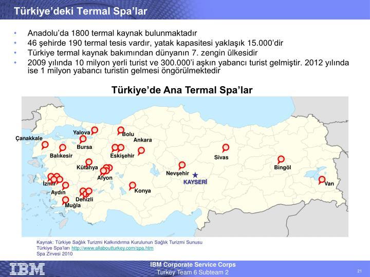 Türkiye'deki Termal Spa'lar