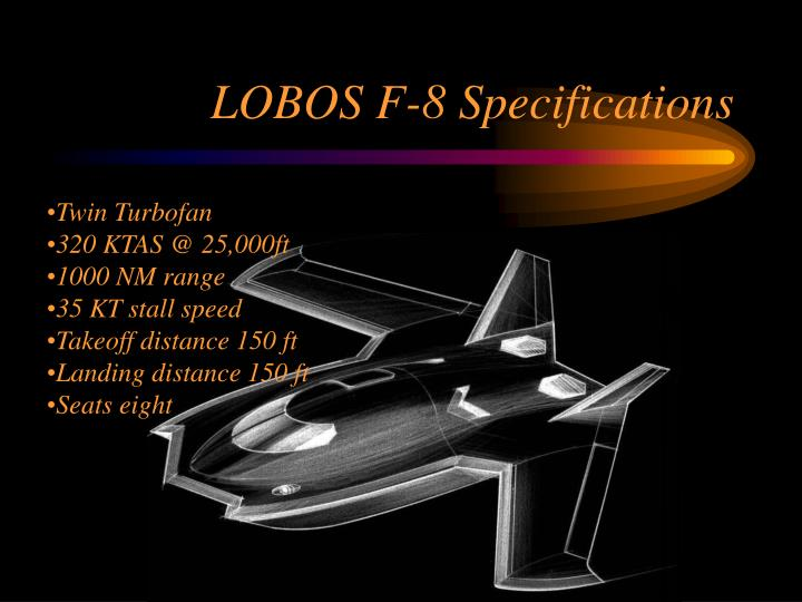 LOBOS F-8 Specifications