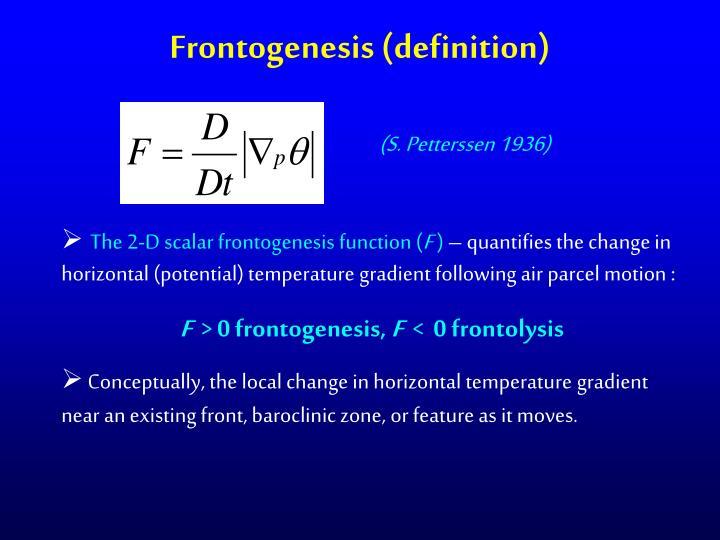 Frontogenesis (definition)