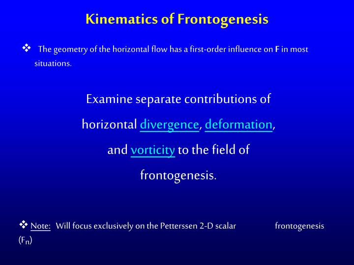 Kinematics of Frontogenesis