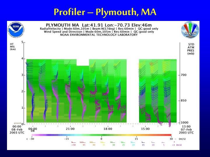 Profiler – Plymouth, MA