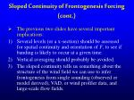 sloped continuity of frontogenesis forcing cont
