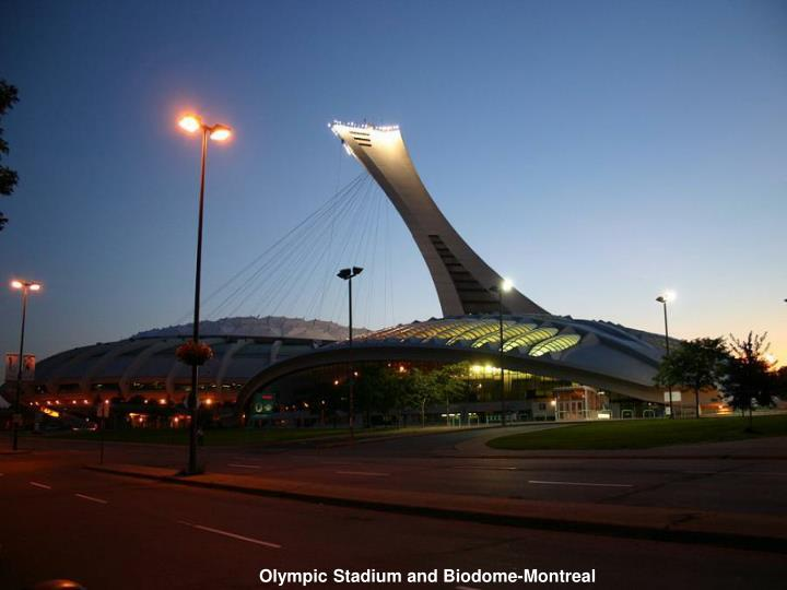 Olympic Stadium and Biodome-Montreal